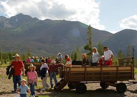 At your breck and call Summer Chuckwagon Rides